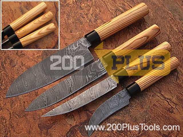 Damascus Kitchen Chef Knives Set